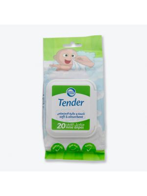 Tender - Nose Wipes for Babies (20 piece Pack)