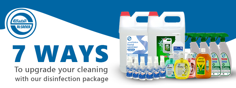 7 ways to upgrade your cleaning with our disinfection package.